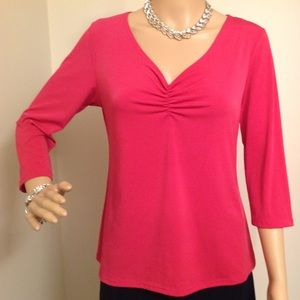 CKW Tops - BRIGHT PINK TOP